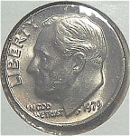 1979 Roosevelt Dime Cut From Mint Set Coins
