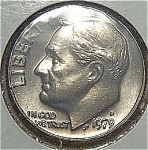 1979-d Roosevelt Dime Cut From Mint Set Coins
