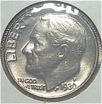 1980-p Roosevelt Dime Cut From Mint Set Coins