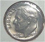 1980-d Roosevelt Dime Cut From Mint Set Coins