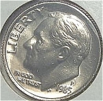 1985-p Roosevelt Dime Cut From Mint Set Coins