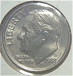1988-d Roosevelt Dime Cut From Mint Set Coins