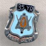 35 Year Member Sterling Silver Union Labor Pin