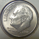 2006-p Roosevelt Dime From Original Bu Roll Coins