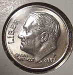 2007-p Roosevelt Dime From Original Bu Roll Coins