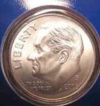 2009-p Roosevelt Dime Satin Finish Cut From Mint Set Coins