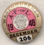A Fof L Ware Housemen Union Pin 1948