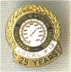 Operating Engineers Local 12 25 Year Union Pin Tie Tac