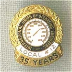 Operating Engineers Local 12 35 Year Union Pin Tie Tac