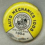 Auto Mechanics 1005 Union Pin Button 1954.
