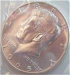 1965 Sms Kennedy Half Dollar Gem Bu - Semi-prooflike - 40% Silver Coins