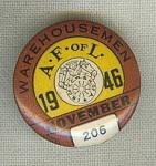 A Fof L Ware Housemen Union Pin November 1946