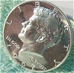 1967 Sms Kennedy Half Dollar Gem Bu - Prooflike - 40% Silver Coins