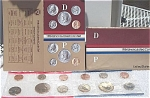1984-pd U.s. Treasury Mint Set In Original Color Pack With Coa 10 Coins