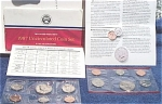 1987-pd U.s. Treasury Mint Set In Original Color Pack With Coa 10 Coins