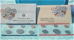 1988-pd U.s. Treasury Mint Set In Original Color Pack With Coa 10 Coins