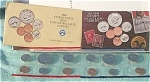 1990-pd U.s. Treasury Mint Set In Original Color Pack With Coa 10 Coins