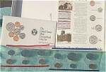 1992-pd U.s. Treasury Mint Set In Original Color Pack With Coa 10 Coins
