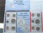 1998-pd U.s. Treasury Mint Set In Original Color Pack With Coa 10 Coins