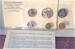 1965 U.s. Treasury Special Mint Set In Original White Flat Pack 5 Semi-prooflike Coins