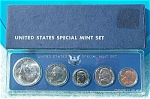 1966 U.s. Treasury Special Mint Set In Original Blue Box 5 Prooflike Coins