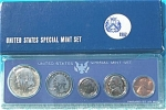 1967 U.s. Treasury Special Mint Set In Original Blue Box 5 Prooflike Coins