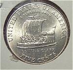 2004-p Jefferson Nickel (Keel Boat Reverse) From Original Bu Roll Coins
