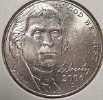 2006-d Jefferson Nickel (Return To Monticello Reverse) From Original Bu Roll Coins