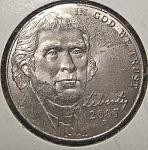 2007-p Jefferson Nickel From Original Bu Roll Coins