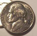 1956-d Jefferson Nickel Bu Or Better From Bu Roll Coins