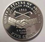 2004-s Jefferson (Peace Medal Reverse) Deep Cameo Gem Proof Nickel Coins