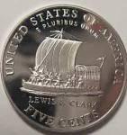 2004-s Jefferson (Keel Boat Reverse) Deep Cameo Gem Proof Nickel Coins