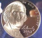 2007-s Jefferson Deep Cameo Gem Proof Nickel Coins