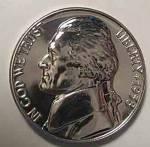 1958 Jefferson Brilliant Gem Proof Nickel Coins