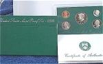 1996-s C/n Clad U.s. Treasury Deep Cameo Gem Proof Set In Original Box With Coa 5 Coins