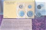 1964 U.s. Treasury Brilliant Gem Silver Flat Pack Proof Set 5 Coins