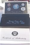 1995-s 90% Silver U.s. Treasury Deep Cameo Gem Proof Set In Original Box With Coa 5 Coins