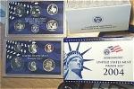 2004-s C/n Clad U.s. Treasury Deep Cameo Gem Proof Set In Original Box With Coa 11 Coins