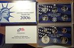 2006-s C/n Clad U.s. Treasury Deep Cameo Gem Proof Set In Original Box With Coa 10 Coins