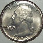 1970-d Washington Quarter Cut From Mint Set Coins