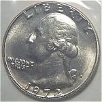 1972-d Washington Quarter Cut From Mint Set Coins