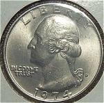 1974-d Washington Quarter Cut From Mint Set Coins
