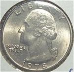 1978 Washington Quarter Cut From Mint Set Coins