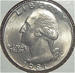1981-d Washington Quarter Cut From Mint Set Coins