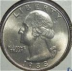 1988-d Washington Quarter Cut From Mint Set Coins