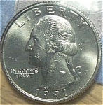1991-d Washington Quarter Cut From Mint Set Coins