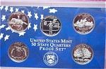 1999-s C/n Clad U.s. Treasury State Quarters Only Proof Set: No Box & No Coa 5 Coins