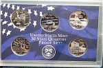 2001-s C/n Clad U.s. Treasury State Quarters Only Proof Set: No Box & No Coa 5 Coins