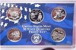 2002-s C/n Clad U.s. Treasury State Quarters Only Proof Set: No Box & No Coa 5 Coins