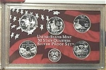2003-s U.s. Treasury 90% Silver State Quarters Only Proof Set In Plastic Display 5 Coins